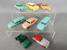 Dinky Toys - A fleet of 8 unboxed diecast Dinky Toys.