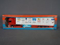 Tekno - A boxed Tekno #78 diecast 1:50 scale DAF 95XF Curtainside from 'The British Collection'.