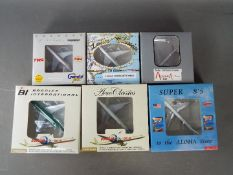 Gemini Jets, Aero Classics, Aurora Models, Other - Six boxed diecast model aircraft in 1:400 scale.