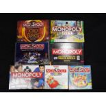 Waddingtons, Monopoly - Seven boxed modern editions of the board game Monopoly.