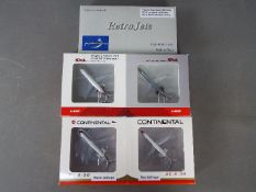 Three boxed two piece diecast model aircraft sets in 1:400 scale.