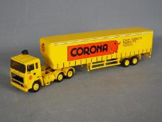 Alan Smith Models - A 1:48 scale white metal and resin model of an ERF tractor and box trailer in