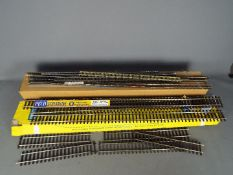 Peco - Two boxes of a small quantity of Peco O gauge Nickel Silver Streamline track,