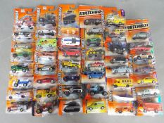 Matchbox, Other - Over 45 blister carded modern issue Matchbox diecast vehicles.