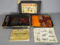 Meccano - A vintage boxed early Meccano set circa 1920s.