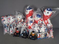 Wenlock London 2012 Olympics - A boxed / package collection of Wenlock London 2012 Olympic plush /
