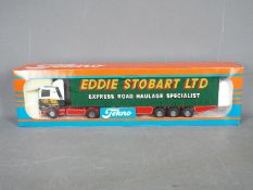 Tekno - A boxed Tekno #64 diecast 1:50 scale Scania Curtainside 'Eddie Stobart' from 'The British