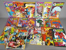 A collection of Marvel and DC comics to include The Amazing X-Men,
