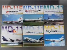Dragon Wings - Six boxed diecast 1:400 scale model aircraft in various carrier liveries from Dragon