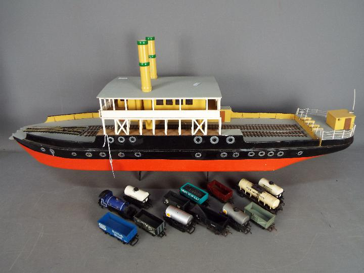 A scratch built model of a Norwegian ferry boat,