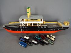 A scratch built model of a Norwegian ferry boat,