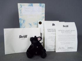 Steiff - A boxed, limited edition Steiff bear # 036323 'Black Crystal Bear', white tag,