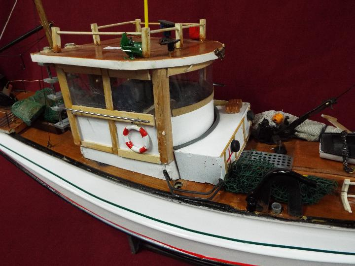 A scratch built model constructed in wood and plastic of a fishing vessel. - Image 4 of 5