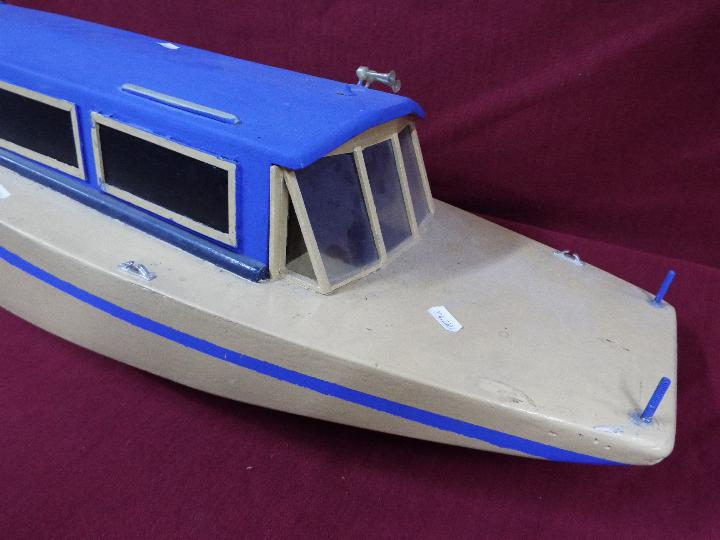A scratch built model of a lake vessel 'Party Boat' measuring approximately 28cms (H) x 85cms x - Image 2 of 3