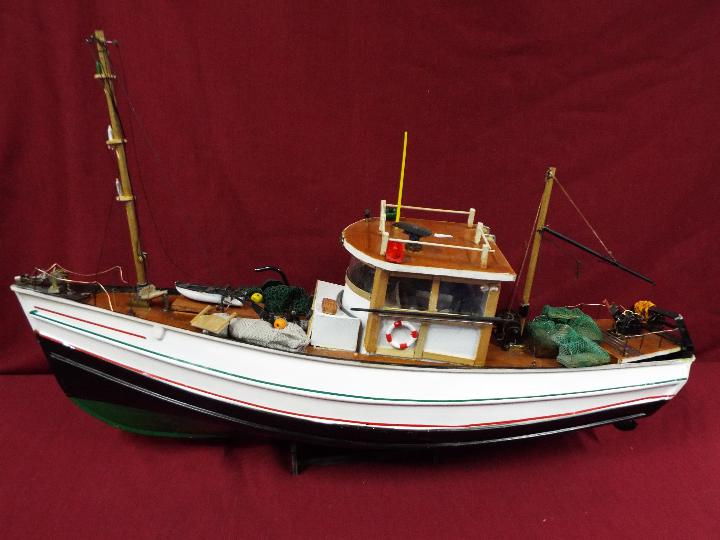 A scratch built model constructed in wood and plastic of a fishing vessel. - Image 5 of 5