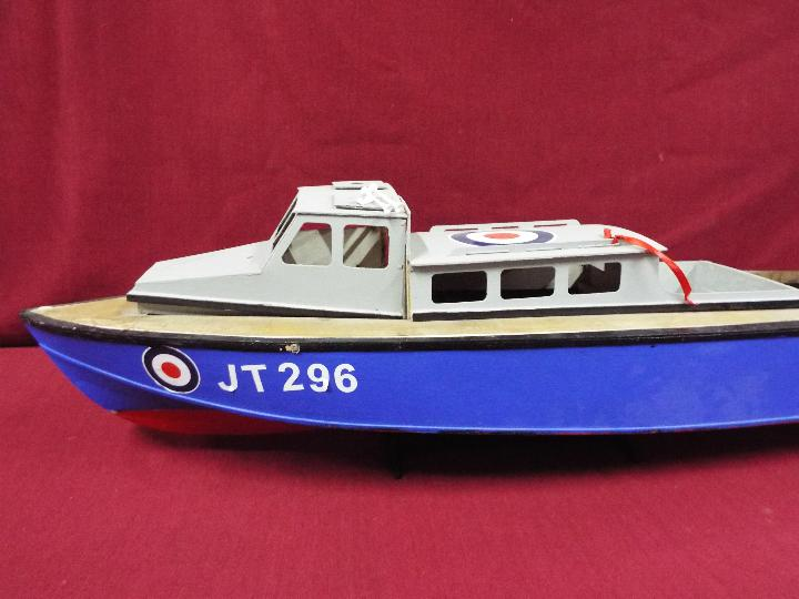 A wooden model of an RAF Launch 'JT296'. - Image 4 of 5