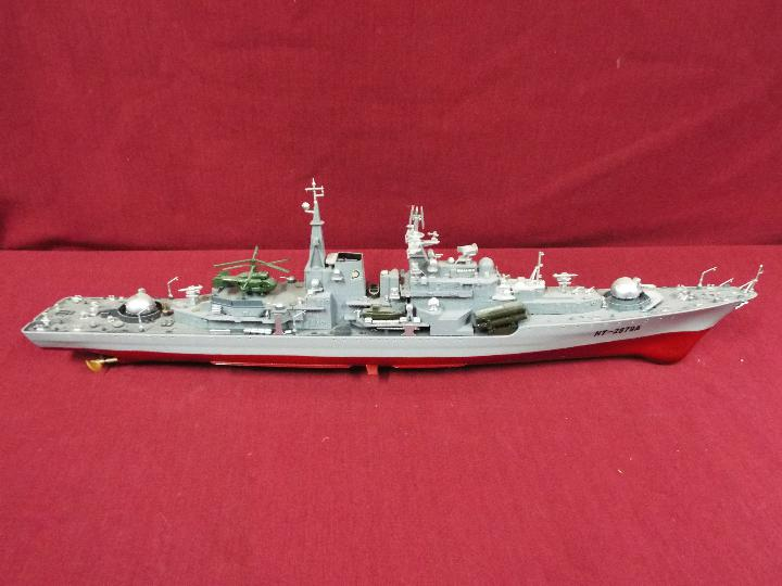 A radio controlled 'Smasher' Destroyer.