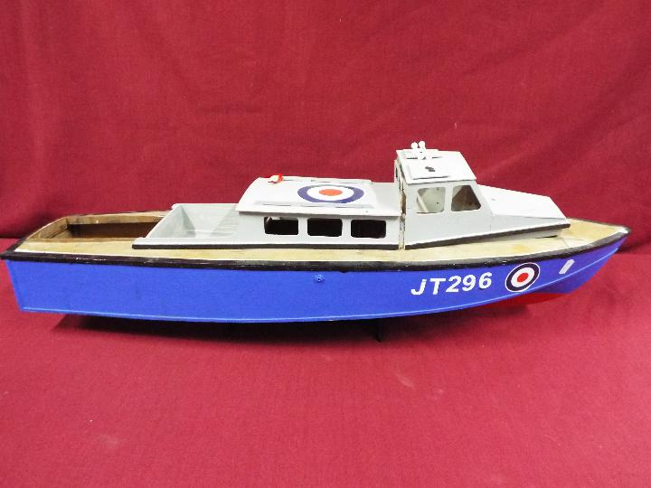 A wooden model of an RAF Launch 'JT296'. - Image 5 of 5