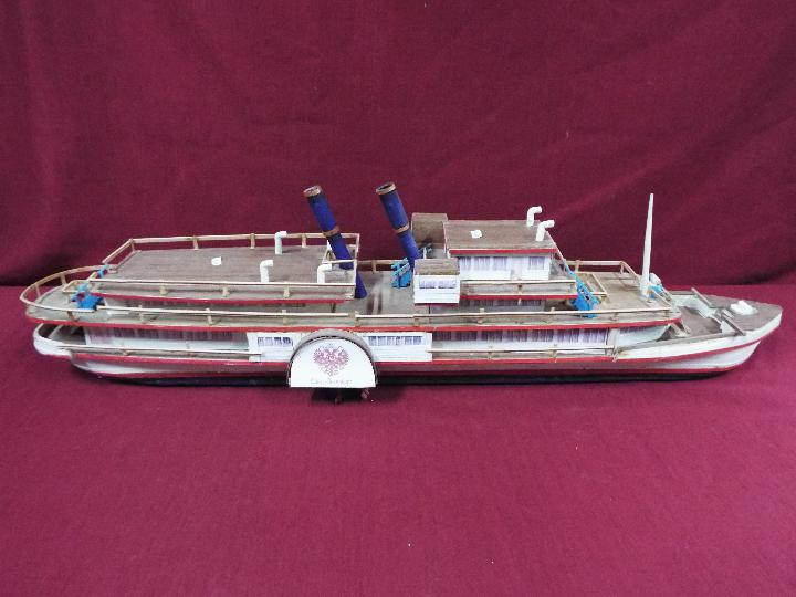 A wooden model of a Russian Paddle Steamer 'St.Petersburg'. - Image 5 of 5