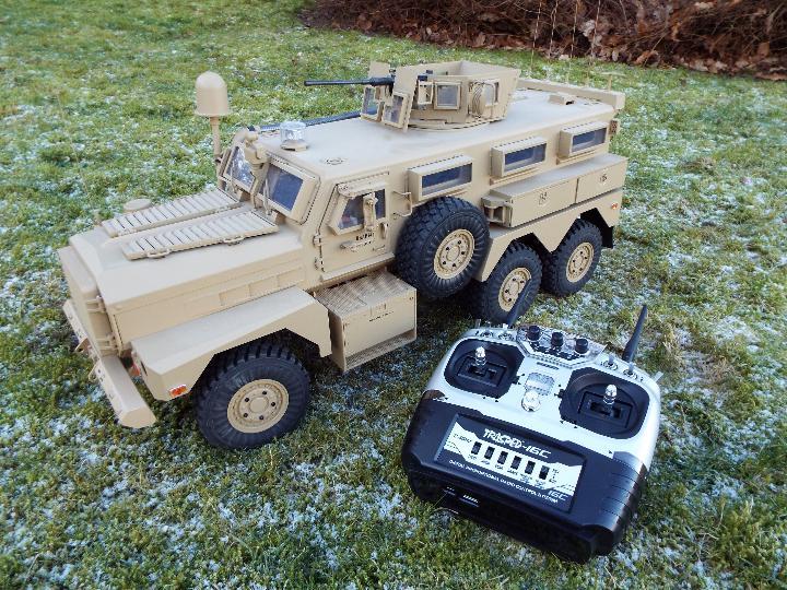 HG -RC MRAP COUGAR U.S. Military Vehicle 6X6 HG P602 1/12 2.4G 6WD 16CH ARTR 2.
