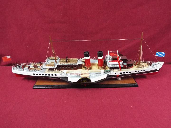 A display model of the last sea-going paddle steamer 'Waverley'. - Image 5 of 5