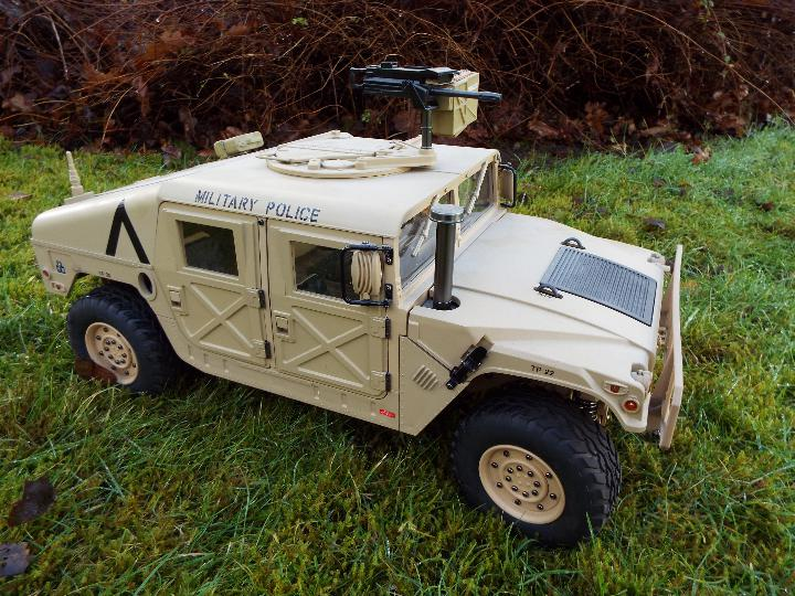 HG - HG P408 Humvee style with light and sound Function 1/10 scale 2.4G 4WD 16CH 30km/h Rc Model U. - Image 4 of 10