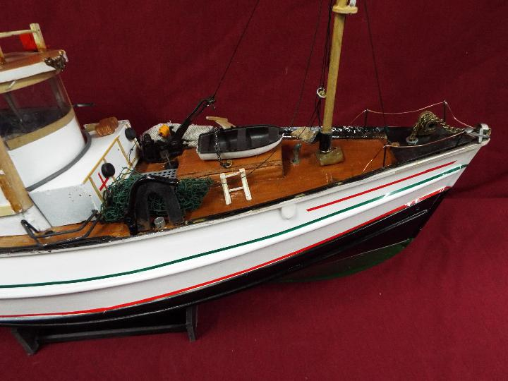 A scratch built model constructed in wood and plastic of a fishing vessel. - Image 3 of 5