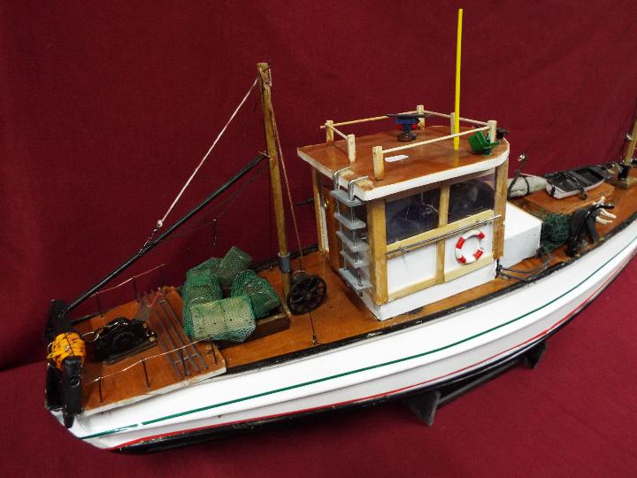A scratch built model constructed in wood and plastic of a fishing vessel. - Image 2 of 5
