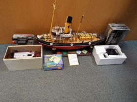 A radio controlled tug boat Joffre, very well detailed and finished,