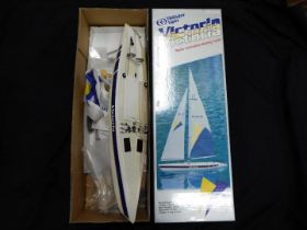 Thunder Tiger Victoria Radio controlled sailing yacht, unused, boxed, requires assembly,