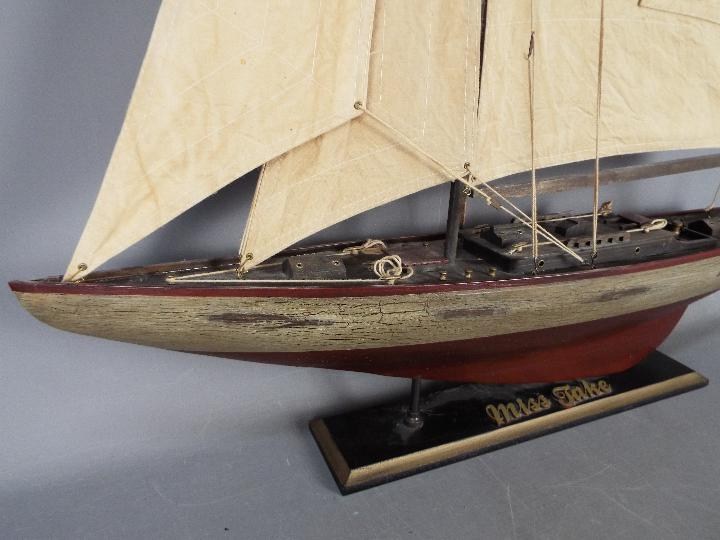 A large static model of a sea going yacht 'Miss Take'. - Image 3 of 5
