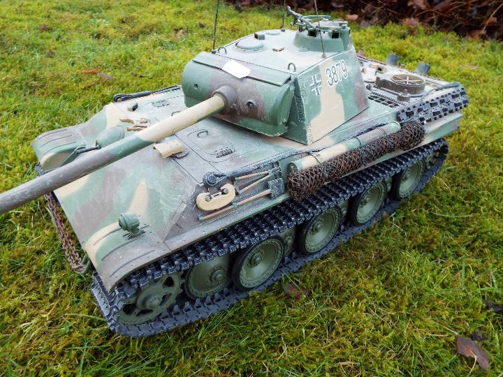 Heng Long - R/C tank 1/16 German RC Panther G camo IR Servo Torro Pro Edition Single link metal - Image 3 of 9