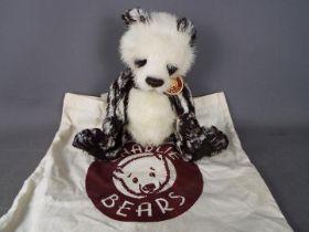 Charlie Bears - A Charlie Bears toft toy teddy bear in the form of a panda, # CB094318 'Alanna',