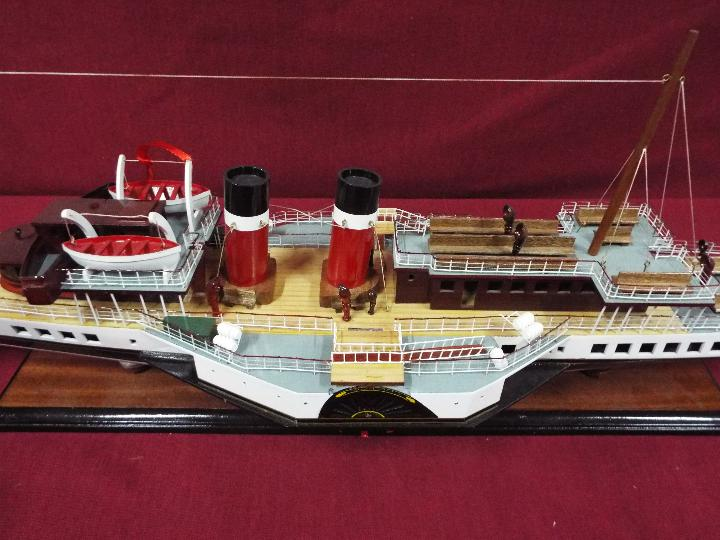 A display model of the last sea-going paddle steamer 'Waverley'. - Image 3 of 5