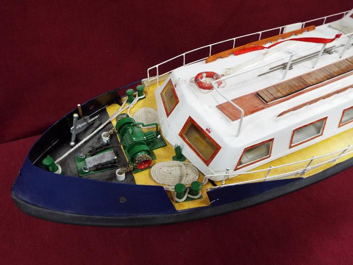 A scratch built model of a Pilot Boat measuring approximately 45cms (H) x 87cms (L) x 25cms (W). - Image 2 of 5
