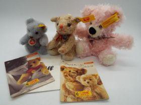 Steiff - Three Steiff Mini Bears comprising # 039287 'Blue Bear',