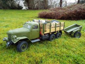 King Kong - RC 1/12 CA-30 6x6 Tractor Truck. A lovely example of an enthusiast built kit.
