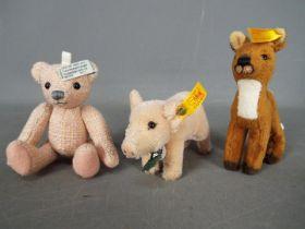 Steiff - Three Steiff Mini Bears comprising # 034008 Amelia white tag in ear,