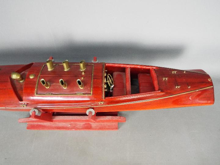 A large wooden radio controlled model of a Venetian State launch. - Image 4 of 5