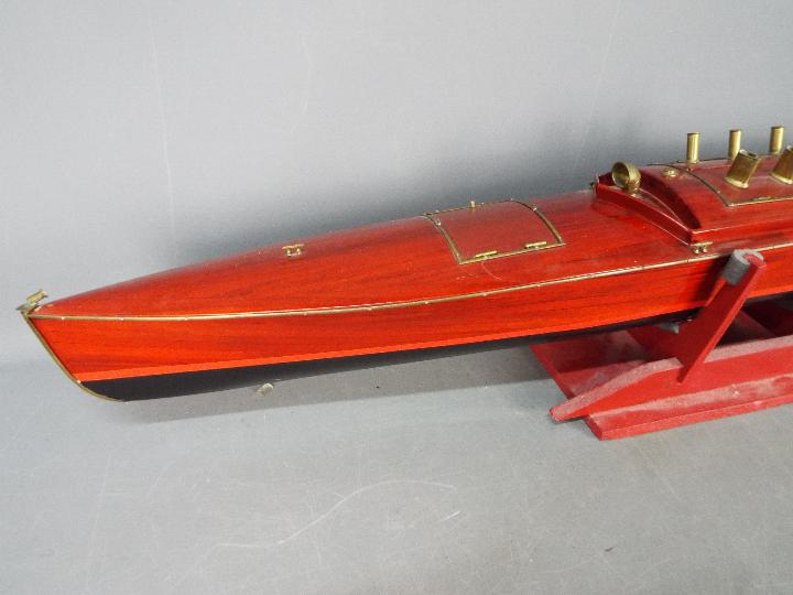 A large wooden radio controlled model of a Venetian State launch. - Image 2 of 5