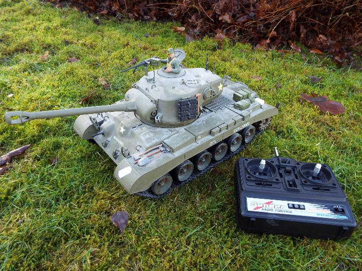 Heng Long - M26 Pershing 1:16 scale tank. This model has a forward and reverse drive.