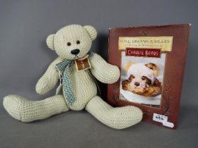Charlie Bears - A Charlie Bears knitted wool teddy bear 'Knotty' # CB10JKBCRE,