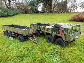 CrossRC - R/C truckMC8 1/12 Off Road Military Truck Kit 8X8 wheel drive w/ Scale Interior.