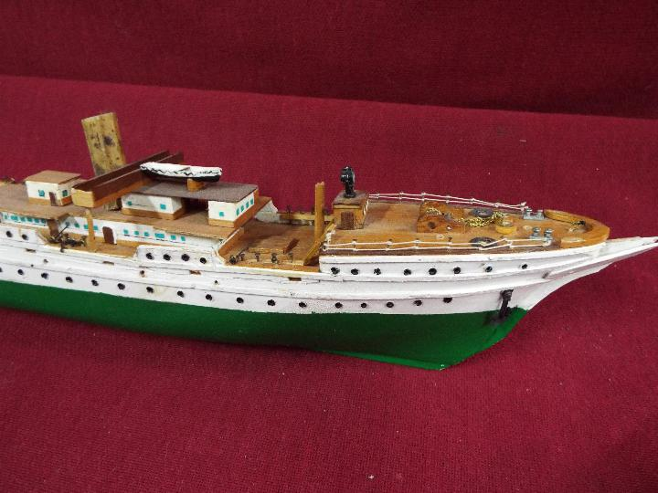 A resin model on stand of a U-Boat measuring approximately 20cms (H) x 48cms (L) x 7cms (W) - Image 3 of 4
