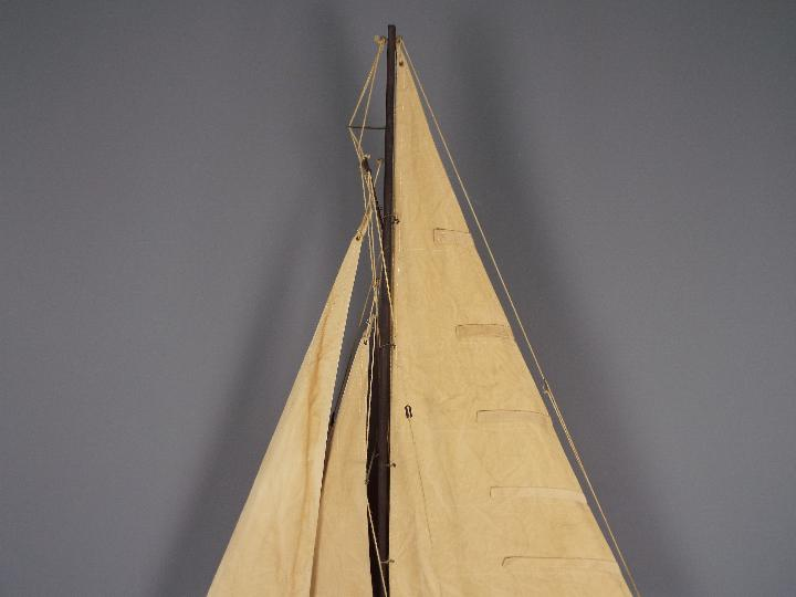 A large static model of a sea going yacht 'Miss Take'. - Image 4 of 5