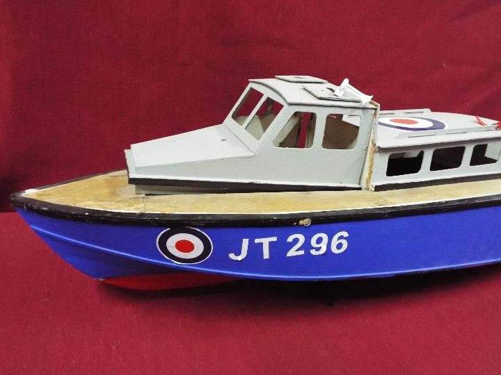 A wooden model of an RAF Launch 'JT296'. - Image 2 of 5