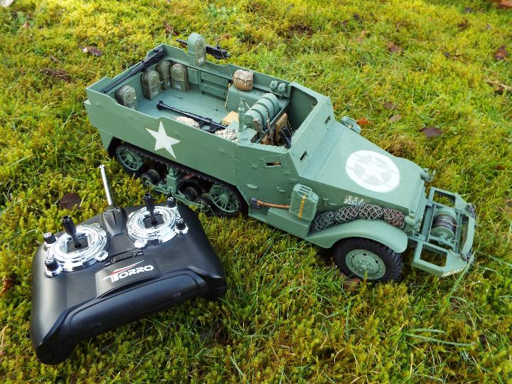 Torro - M16 half track-laying vehicle in US army WW2 livery.