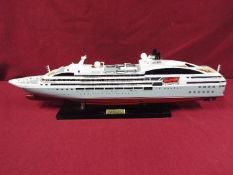 A static display model of a French cruise liner 'Le Soleal' .