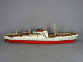 A kit built RC model of the cargo ship 'Port Brisbane' .