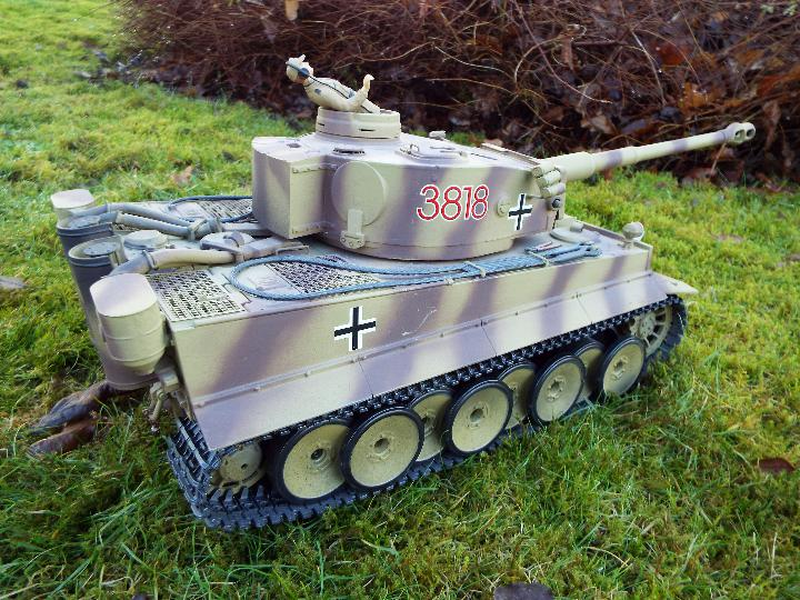 Heng Long - RC Tiger tank I 1:16 Advanced Line IR/BB with 6mm Shooting System + infrared battle - Image 6 of 8